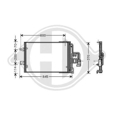 Condenseur, climatisation - Diederichs Germany - 8182100