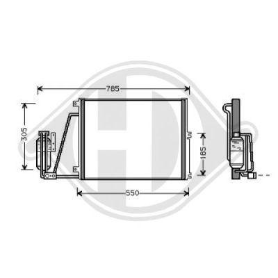 Condenseur, climatisation - Diederichs Germany - 8182402