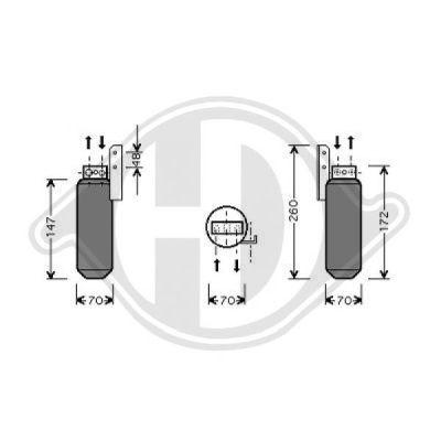 Filtre déshydratant, climatisation - HDK-Germany - 77HDK8182403