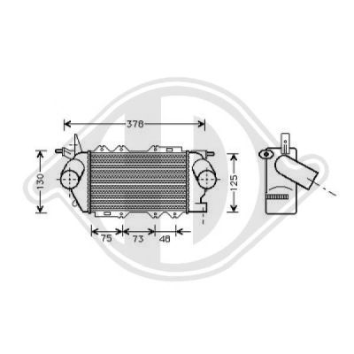 Intercooler, échangeur - Diederichs Germany - 8182404