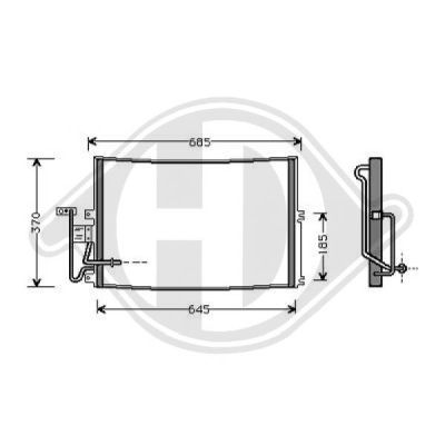 Condenseur, climatisation - Diederichs Germany - 8182410