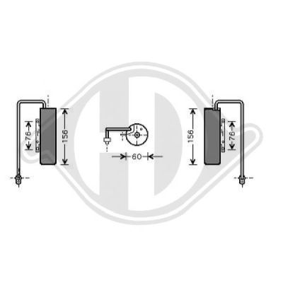 Filtre déshydratant, climatisation - Diederichs Germany - 8182503