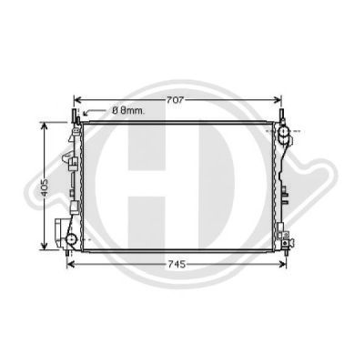 Radiateur, refroidissement du moteur - Diederichs Germany - 8182504