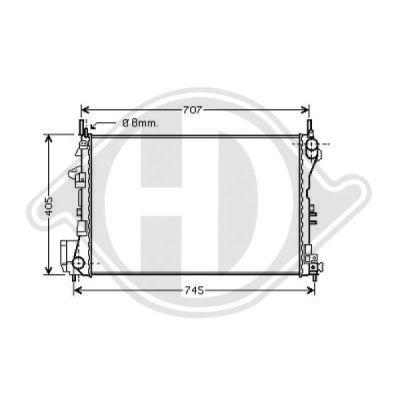 Radiateur, refroidissement du moteur - Diederichs Germany - 8182505