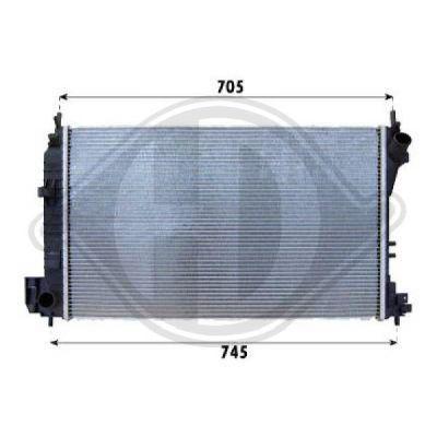 Radiateur, refroidissement du moteur - Diederichs Germany - 8182506