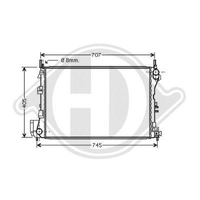 Radiateur, refroidissement du moteur - Diederichs Germany - 8182507
