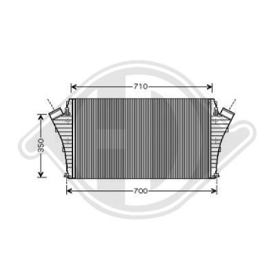 Intercooler, échangeur - Diederichs Germany - 8182509