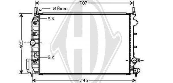 Radiateur, refroidissement du moteur - HDK-Germany - 77HDK8182511