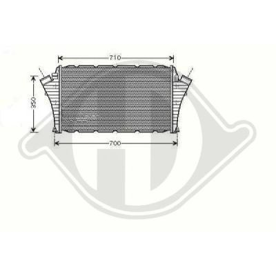 Intercooler, échangeur - Diederichs Germany - 8182512