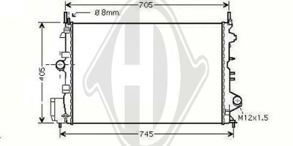 Radiateur, refroidissement du moteur - Diederichs Germany - 8182514