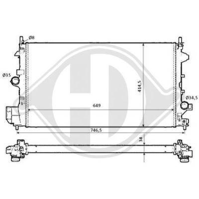 Radiateur, refroidissement du moteur - Diederichs Germany - 8182515