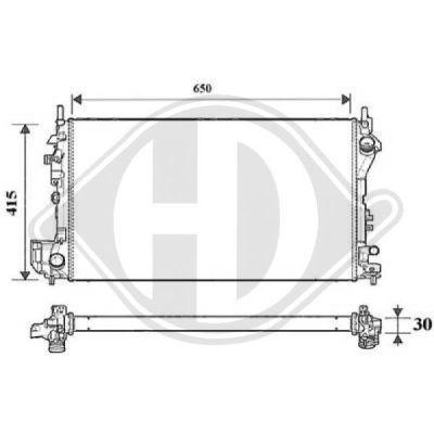 Radiateur, refroidissement du moteur - Diederichs Germany - 8182516