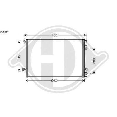 Condenseur, climatisation - Diederichs Germany - 8182518