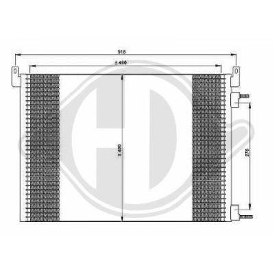 Condenseur, climatisation - Diederichs Germany - 8182520