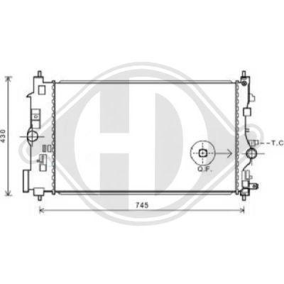 Radiateur, refroidissement du moteur - HDK-Germany - 77HDK8182603