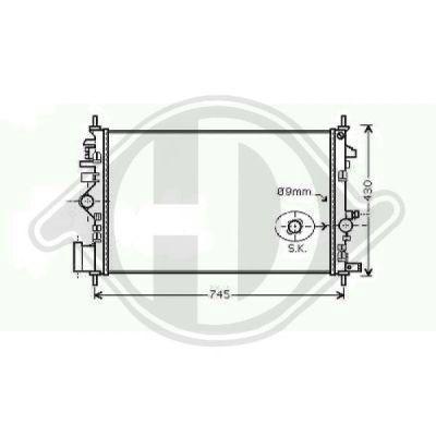 Radiateur, refroidissement du moteur - Diederichs Germany - 8182604