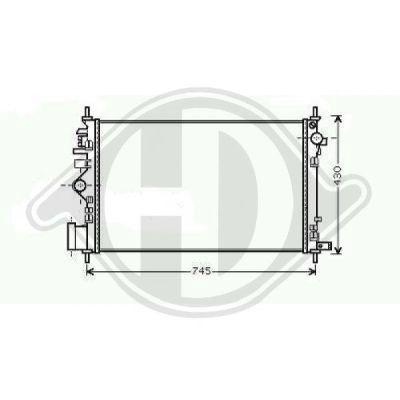 Radiateur, refroidissement du moteur - Diederichs Germany - 8182605