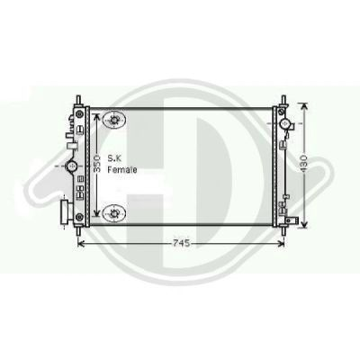 Radiateur, refroidissement du moteur - HDK-Germany - 77HDK8182606