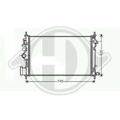 Radiateur, refroidissement du moteur - Diederichs Germany - 8182607