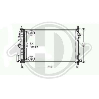 Radiateur, refroidissement du moteur - HDK-Germany - 77HDK8182608