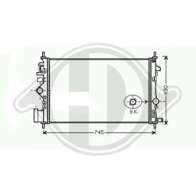 Radiateur, refroidissement du moteur - Diederichs Germany - 8182609