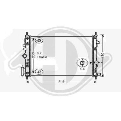 Radiateur, refroidissement du moteur - Diederichs Germany - 8182610