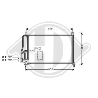 Condenseur, climatisation - Diederichs Germany - 8183001