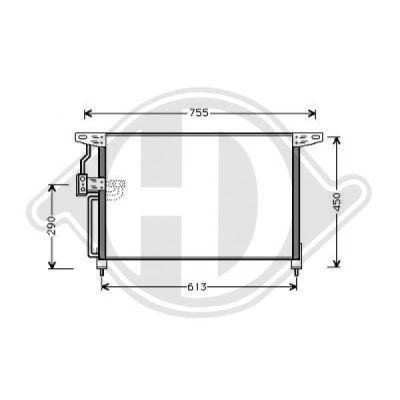 Condenseur, climatisation - Diederichs Germany - 8184400