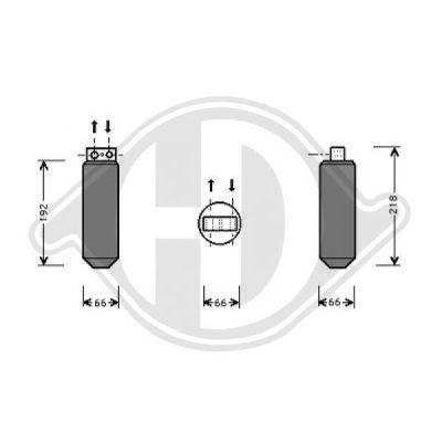 Filtre déshydratant, climatisation - Diederichs Germany - 8184401
