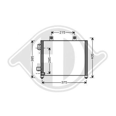Condenseur, climatisation - Diederichs Germany - 8186500