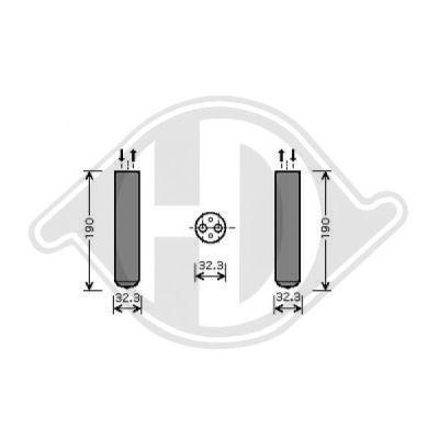 Filtre déshydratant, climatisation - Diederichs Germany - 8186501