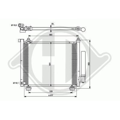 Condenseur, climatisation - Diederichs Germany - 8186502