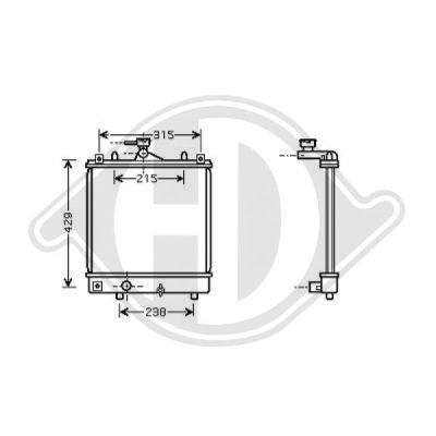 Radiateur, refroidissement du moteur - Diederichs Germany - 8186505