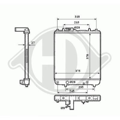 Radiateur, refroidissement du moteur - Diederichs Germany - 8186506