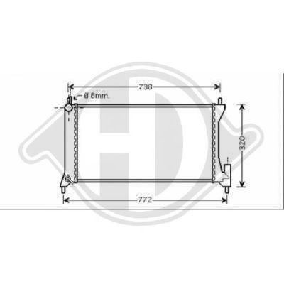 Radiateur, refroidissement du moteur - HDK-Germany - 77HDK8186507