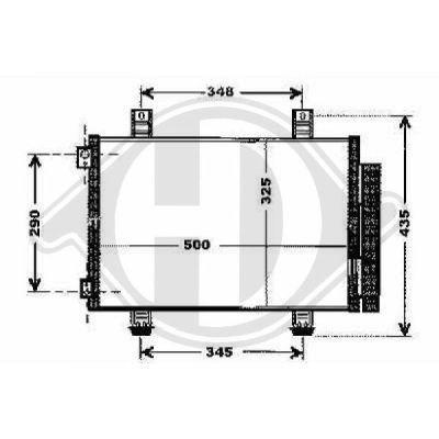 Condenseur, climatisation - Diederichs Germany - 8186600