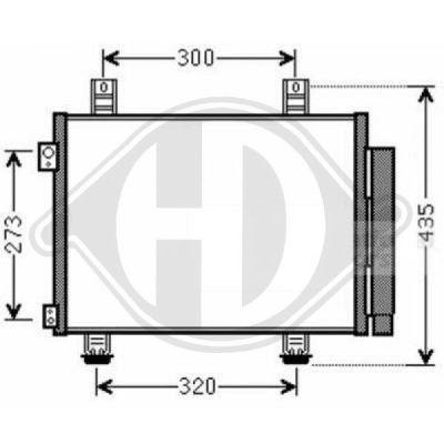 Condenseur, climatisation - Diederichs Germany - 8186601