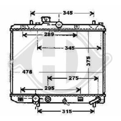 Radiateur, refroidissement du moteur - Diederichs Germany - 8186606