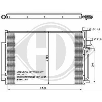 Condenseur, climatisation - Diederichs Germany - 8187000