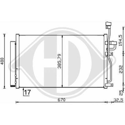 Condenseur, climatisation - Diederichs Germany - 8187001
