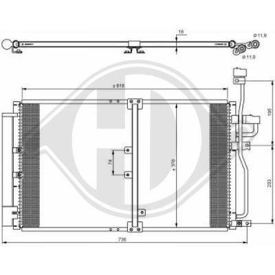 Condenseur, climatisation - Diederichs Germany - 8187002