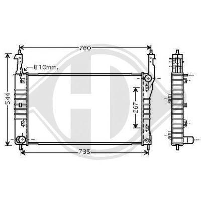 Radiateur, refroidissement du moteur - Diederichs Germany - 8187007