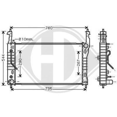 Radiateur, refroidissement du moteur - Diederichs Germany - 8187008