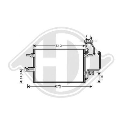 Condenseur, climatisation - Diederichs Germany - 8187500