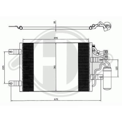 Condenseur, climatisation - Diederichs Germany - 8187501
