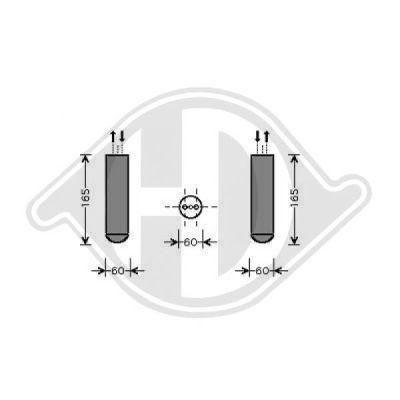 Filtre déshydratant, climatisation - Diederichs Germany - 8187502