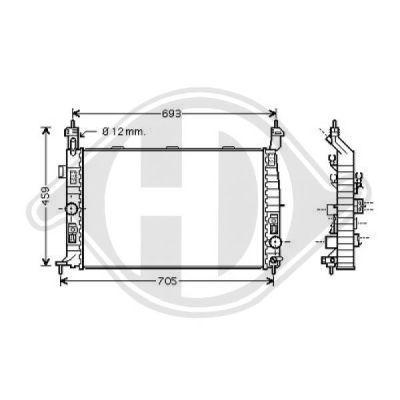 Radiateur, refroidissement du moteur - Diederichs Germany - 8187504