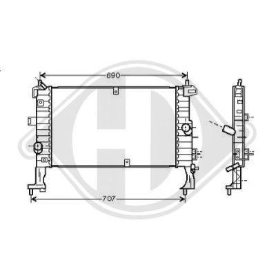 Radiateur, refroidissement du moteur - Diederichs Germany - 8187505