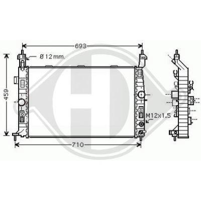 Radiateur, refroidissement du moteur - HDK-Germany - 77HDK8187506
