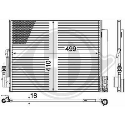 Condenseur, climatisation - Diederichs Germany - 8187600